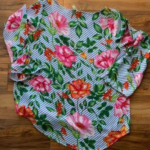 Chenault stripes floral top L